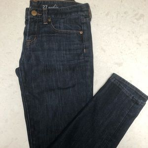 J.Crew Toothpick dark wash ankle jeans